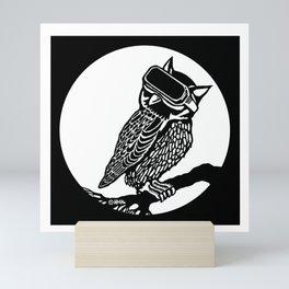 VR Owl Mini Art Print