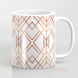 Copper Geo Coffee Mug