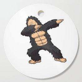 Dabbing Gorilla Shirt Ape Monkey Big Foot Dab Kids Cutting Board