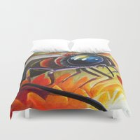 bee Duvet Covers featuring Bee by Brandon Heffron
