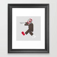 Zombie / Clown Framed Art Print