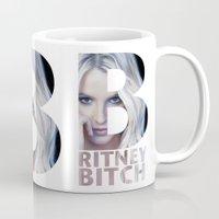 britney Mugs featuring Britney Bxxch by eriicms