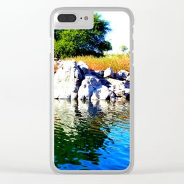 Beautiful Blue Nile River Clear iPhone Case