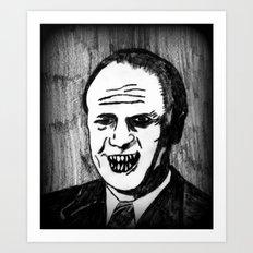 38. Zombie Gerald Ford  Art Print