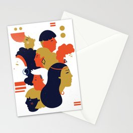 different people from different nations Stationery Cards