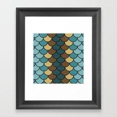 Shelled Teal Framed Art Print