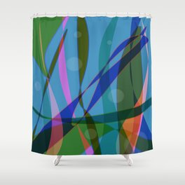 Abstract #355 Shower Curtain