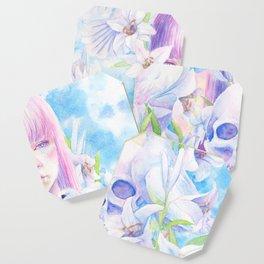 Angel or Devil - Dove, Lily, Skull Coaster