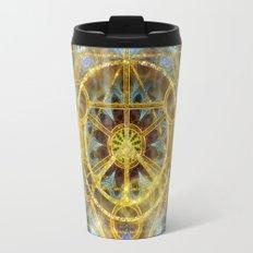 Sacred Geometry Fractal Mandala Travel Mug