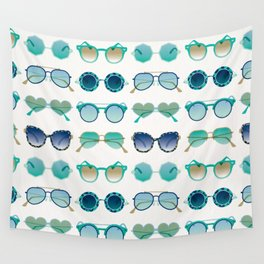 Sunglasses Collection – Turquoise & Navy Palette Wall Tapestry