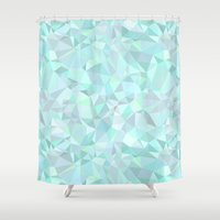 mint Shower Curtains featuring Mint by Kimsa