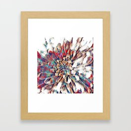 Japanese Inspired Lily Design Sketch Framed Art Print