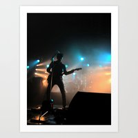 arctic monkeys Art Prints featuring Alex Turner // Arctic Monkeys by Hattie Trott