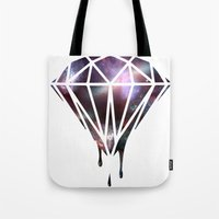 diamond Tote Bags featuring Diamond by jeff'walker