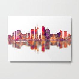 Nuremberg Germany Skyline Metal Print
