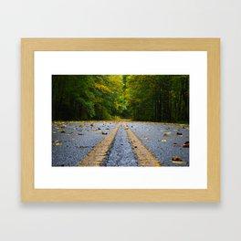 Parkway Gold Framed Art Print