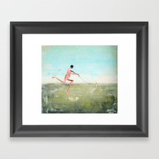 spaziergang mit ego Framed Art Print
