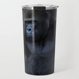 Portrait Of A Male Gorilla Travel Mug