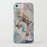 surfer iPhone & iPod Cases featuring Surfer by Michael Creese