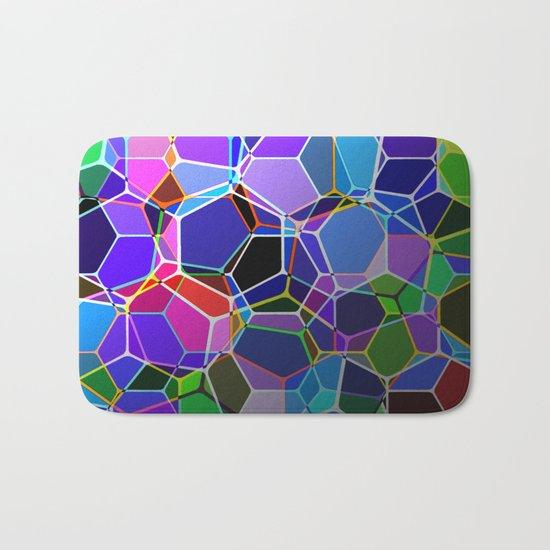 Geometric Genetics - Metallic, abstract, geometric pattern Bath Mat