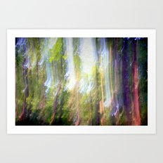 Sun shower in the Fairy Forest Art Print