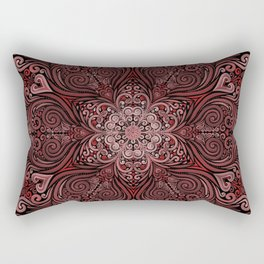 Red Ornate Pattern with 3D effect Rectangular Pillow
