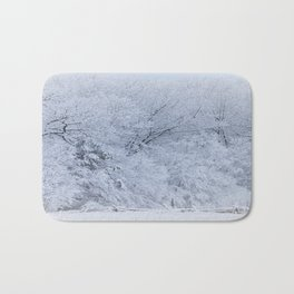 First Snow Fall Fresh Snow on Trees Nature Photography ~ Winter Hush Bath Mat