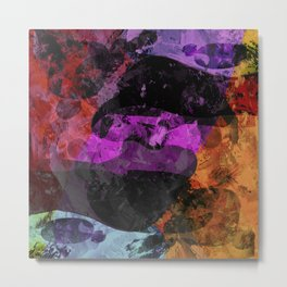 Peace And War - Abstract, Textured Artwork Metal Print