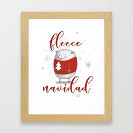 Fleece Navidad Framed Art Print