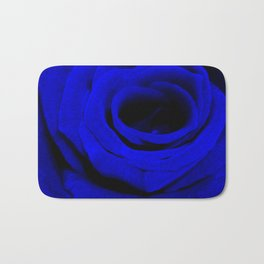 Expansion Blue rose flower Bath Mat