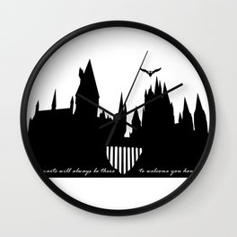 Hogwarts Is Our Home  Wall Clock