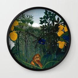 Henri Rousseau - The Repast of the Lion Wall Clock