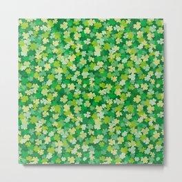 Clover leaves pattern Metal Print