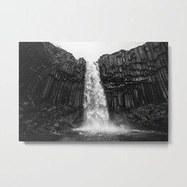 Svartifoss Waterfall Iceland Metal Print
