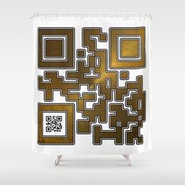 Respect Is Golden QR Code Shower Curtain