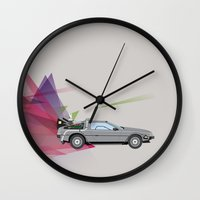back to the future Wall Clocks featuring Back to the Future by avoid peril