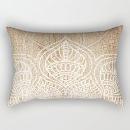 Wood + Mandala Pattern II Rectangular Pillow