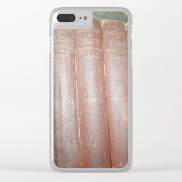 Antique books Clear iPhone Case