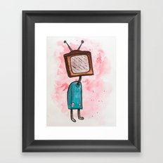 TV Head Framed Art Print