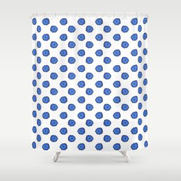 Blue flowers on white Shower Curtain