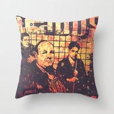 The Sopranos (in memory of James Gandolfini) Throw Pillow