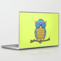 henna Laptop & iPad Skins featuring Henna Owl by haleyivers
