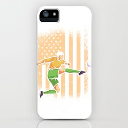 Kicker soccer ball USA America flag iPhone Case