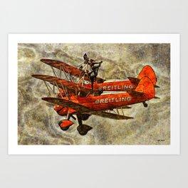 105 Breitling Wingwalkers Art Print