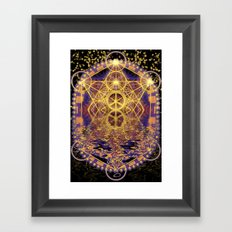 Geometry Peace Reflections Framed Art Print
