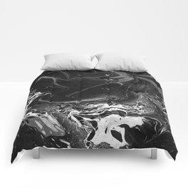 // MARBLED BLACK // Comforters