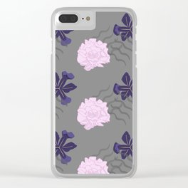 Blooms Between Lines Clear iPhone Case