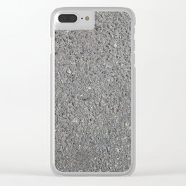 Texture of asphalt, road surface Clear iPhone Case
