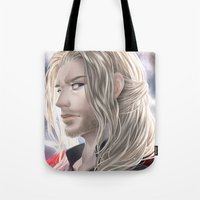 thor Tote Bags featuring Thor by Lüleiya