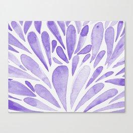 Watercolor artistic drops - lilac Canvas Print